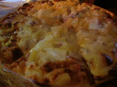 meal, breakfast, pizza, baked goods, zwiebelkuchen, tartiflette, moussaka, food, dish, cuisine, quiche,