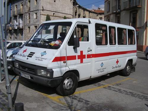 Furgoneta de la Creu Roja de Ripoll (Girona)