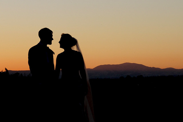 wedding couple at Wente vineyard in Livermore, California  (2010)