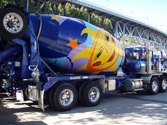 asphalt, vehicle, truck, transport, concrete mixer,