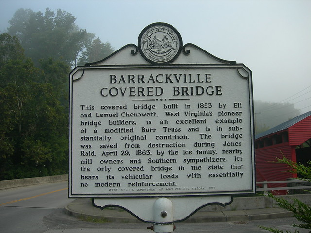 barrackville dating Entry numser date barrackville covered bridne 1 2, locatiom s~reet and number: secondary boad 21 at junction of secondary road 250/32 city or town: 1.