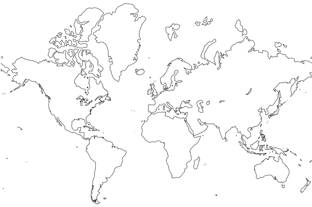 World Map Blank With Borders.Blank World Map No Borders Jason Rhode Flickr