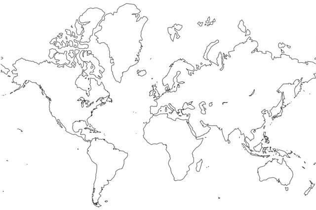 Blank World Map - no borders | Flickr - Photo Sharing!
