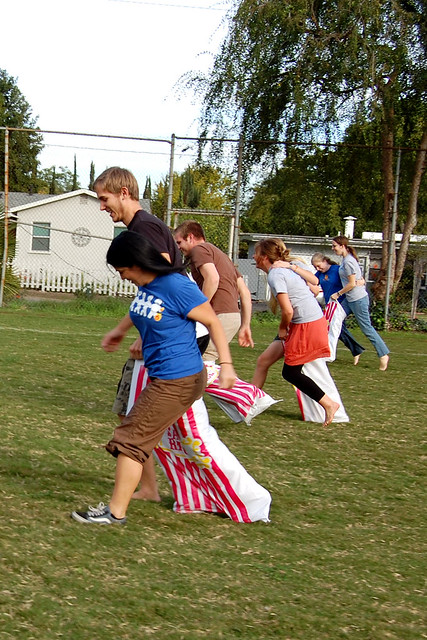 3 legged sack race