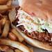 Pull-pork sandwich at Red Wagon