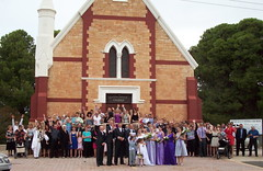 Kylie and Ben Pym's marriage at the Mallala Methodist Church, 2010