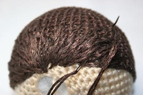 Amigurumi Doll Hair Tutorial : Eb e f g