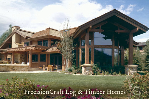 Custom timber frame home design located in sun valley for Custom a frame homes