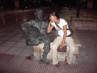 Image of John Lennon. statue sara johnlennon almeria