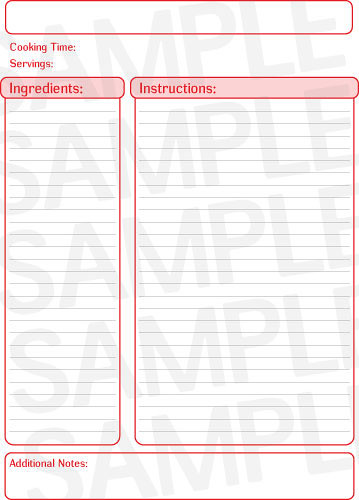 Custom Card Template  Recipe Index Card Template  Free Card
