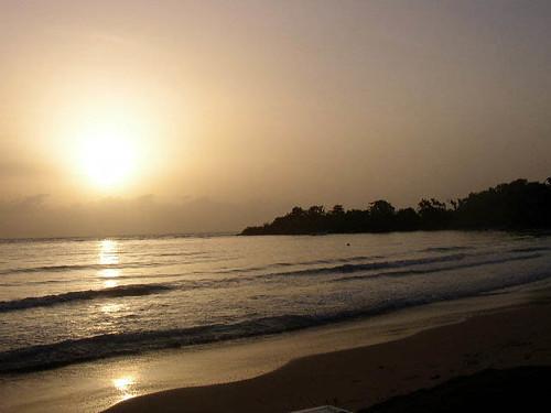 ocean sun beach sunrise jamaica stannsbay