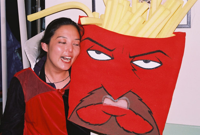 v & Frylock during happy times