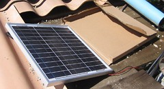 20v solar panel to operate the pump for the solar water heater