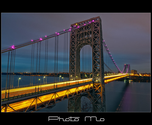 bridge pink night lights george washington breast purple cancer awareness gw month hdr newgoldenseal