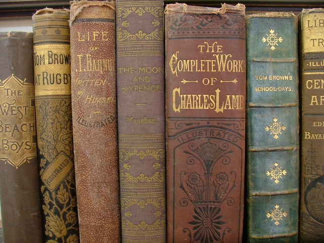 around the house-love old books