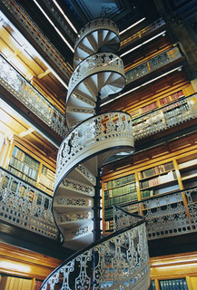 Des Moines, Iowa state capitol, law library, stairs