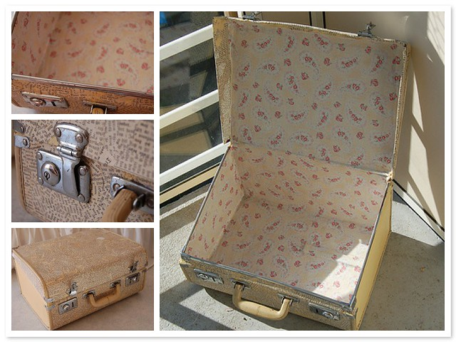 Suitcase decoupage and a crafty picnic