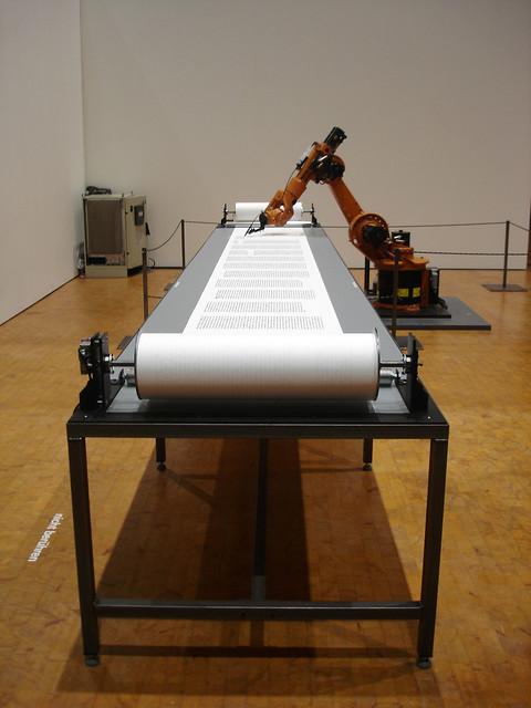 Robotlab : bios [bible], robot writing the Martin Luther bible (2007)