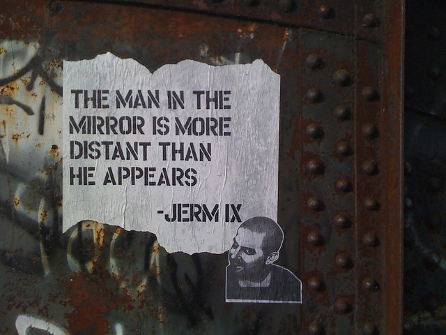 the man in the mirror...