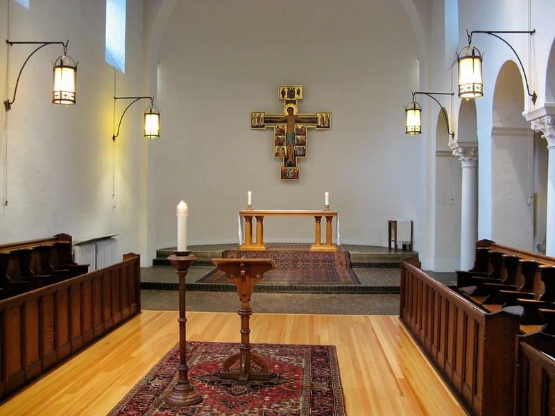 Monastic church with new floor