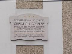 Photo of Christian Doppler stone plaque