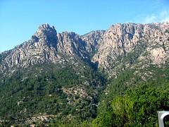 Le hameau de Muna dominé à gauche par le massif de la Punta di a Spusata (invisible) et à droite par le Monte a u Capu