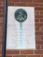 Photo of George Borrow stone plaque