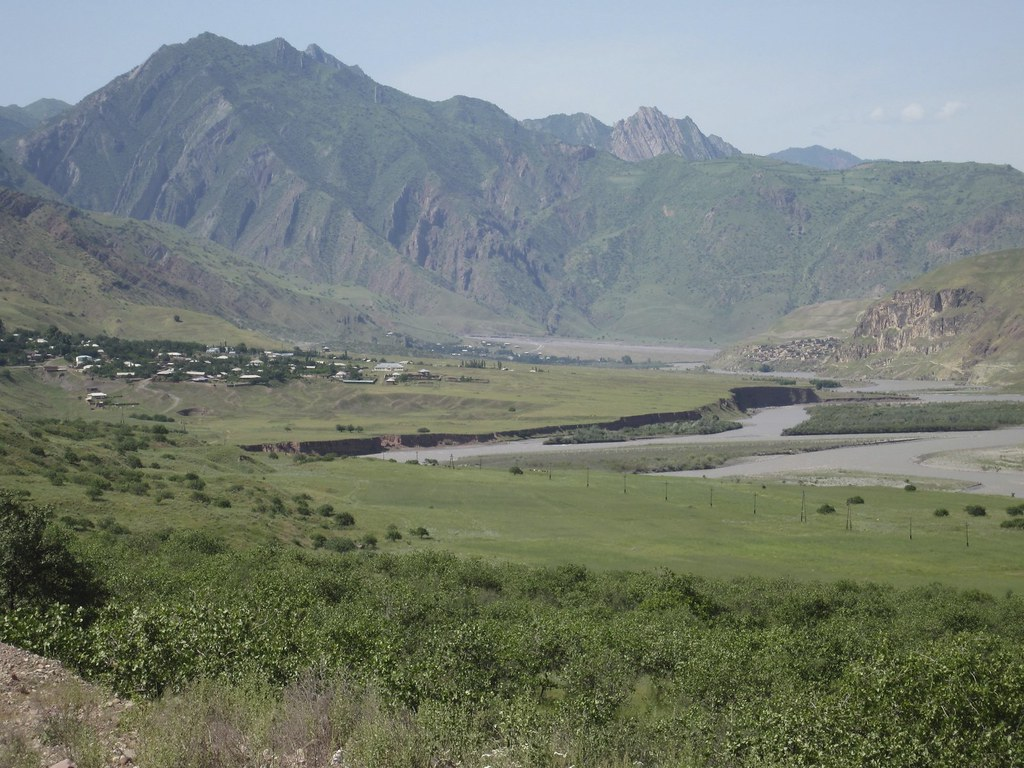 This is one of the views Dr. Tom McCarthy encountered on the 16 hour drive from Dushanbe, Tajikistan's capital, to Khorugh, the capital of Gorno-Badakhshan province. The heaviest spring rains in 70 years had rendered parts of the already rugged highway nearly impassable, especially the last several hundred miles that runs along the border of Afghanistan, shown here.   Learn about Panthera's Snow Leopard Program at www.panthera.org/programs/snow-leopard/snow-leopard-program  Learn about Panthera's Snow Leopard Program Executive Director, Dr. Tom McCarthy, at www.panthera.org/people/tom-mccarthy-phd  © Tom McCarthy/Panthera