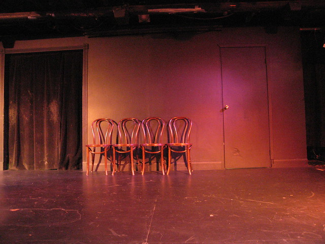 improv stage empty theater