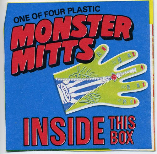Monster Mitt cereal box panel