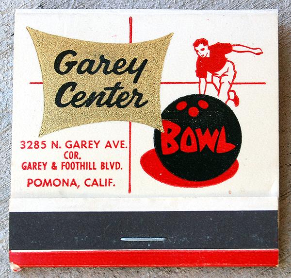 Garey Center Bowl - 3285 North Garey Avenue, Pomona, California U.S.A. - 1950s