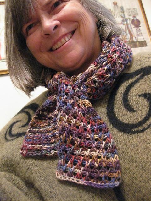 Tunisian Crochet Lace Scarf