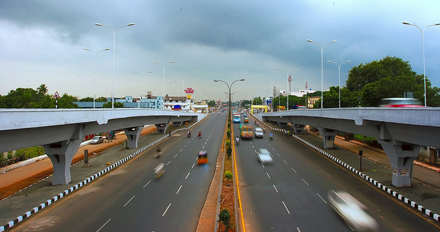 GST Road on a cloudy day