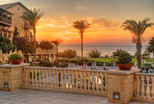 Sunset at the Elysium Hotel