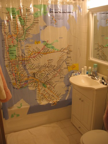 the official MTA subway map shower curtain   invisibleshield   Flickr