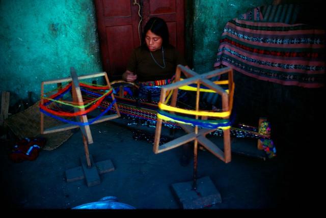 Setting up a backstrap loom