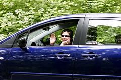 rachel pulls up in her stylish mazda minivan    MG 7137