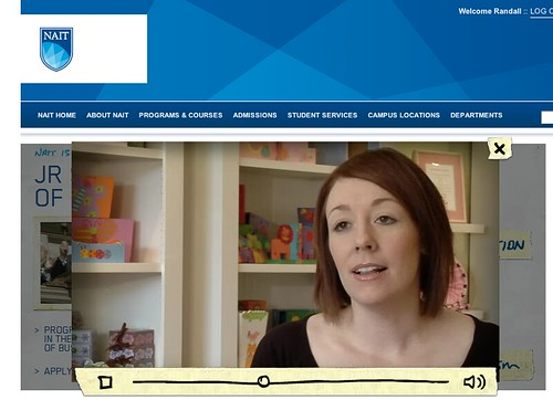 NAIT homepage feature video | Custom video player coded from