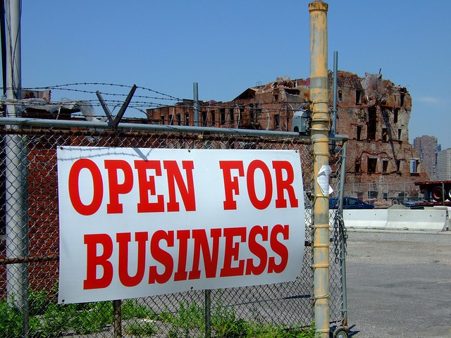 Open for advertising business by flickr user fakeisthenewreal