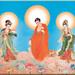 A Di Đà Phật, Quán Thế Âm Bồ Tát, Đại Thế Chí Bồ Tát