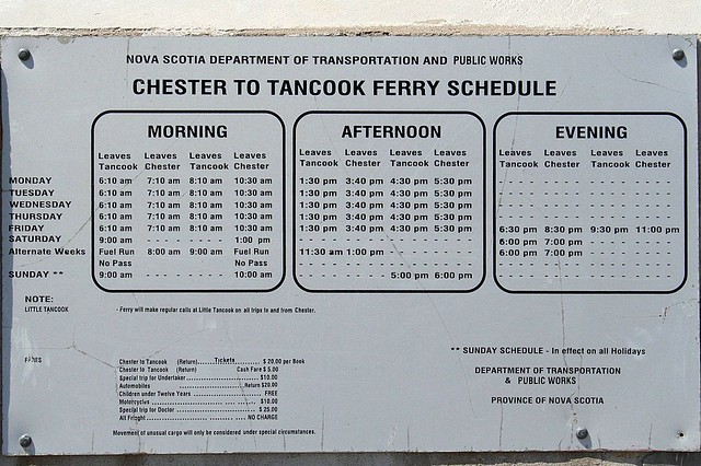 Ferry schedule rencontre east