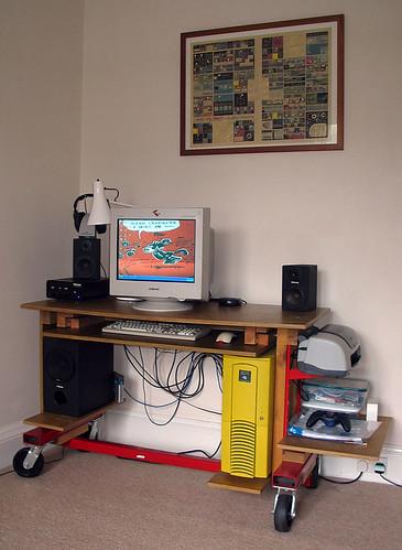 My desk: tidied away