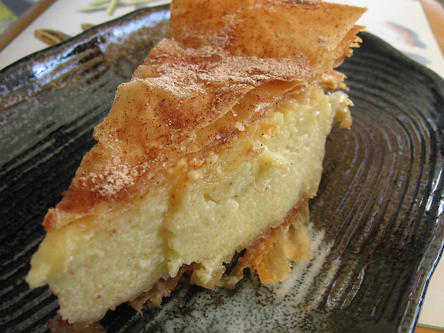 Custard-Filled Phyllo Pie with Orange Glaze