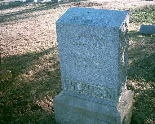 hobby civilwarveteran williamwilkinson tombstonephoto coc103rdillinfantry