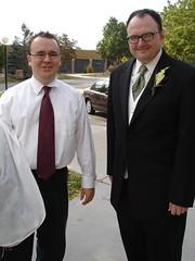groom(0.0), tuxedo(0.0), academic dress(0.0), groom(1.0), man(1.0), formal wear(1.0), suit(1.0), person(1.0),