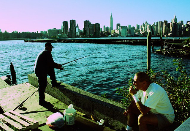 New york city ny fishing for diseases in the east river for Fishing in new york city