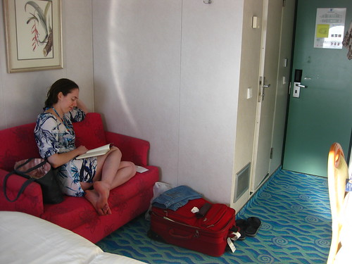 Amy in our Stateroom