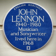Photo of John Lennon blue plaque