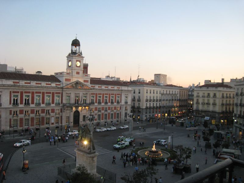 Plaza puerta del sol flickr photo sharing for Reloj puerta del sol