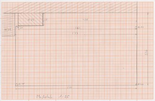 Plan der Holzterrasse